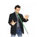 Летающая LED трость (зелёная, реквизит+DVD)