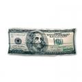 """Шелковый платок """"100 долларов США"""" (эксцельсиор, 33,5х88,5 см.)"""