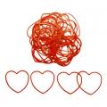 """Резинки для фокуса """"Соединяющиеся сердца"""" (красные, 30 шт.)"""